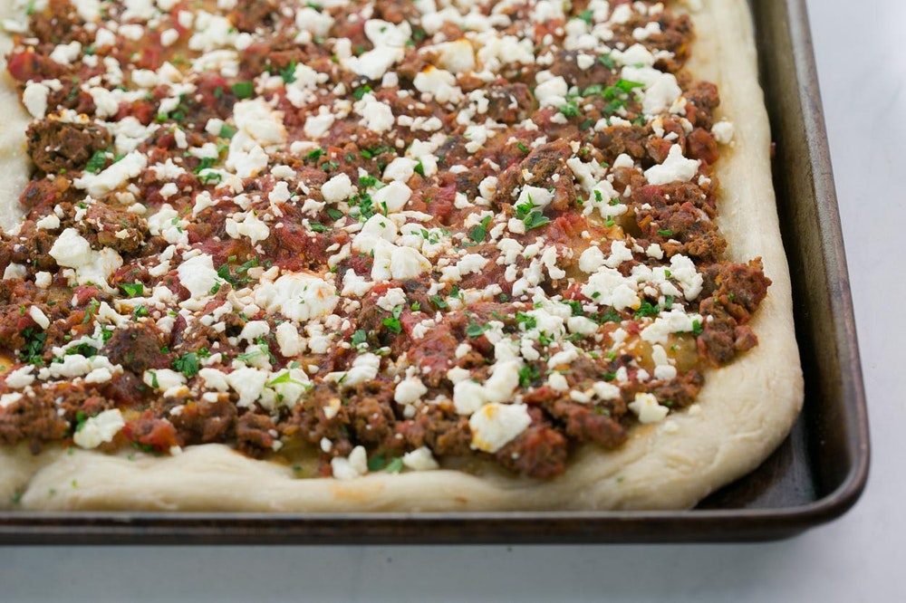 Turkish Pizza with Feta