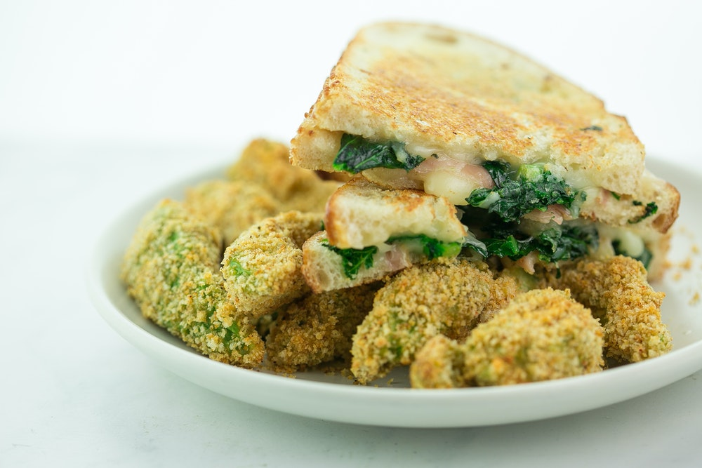 Grilled Cheese with Prosciutto and Kale