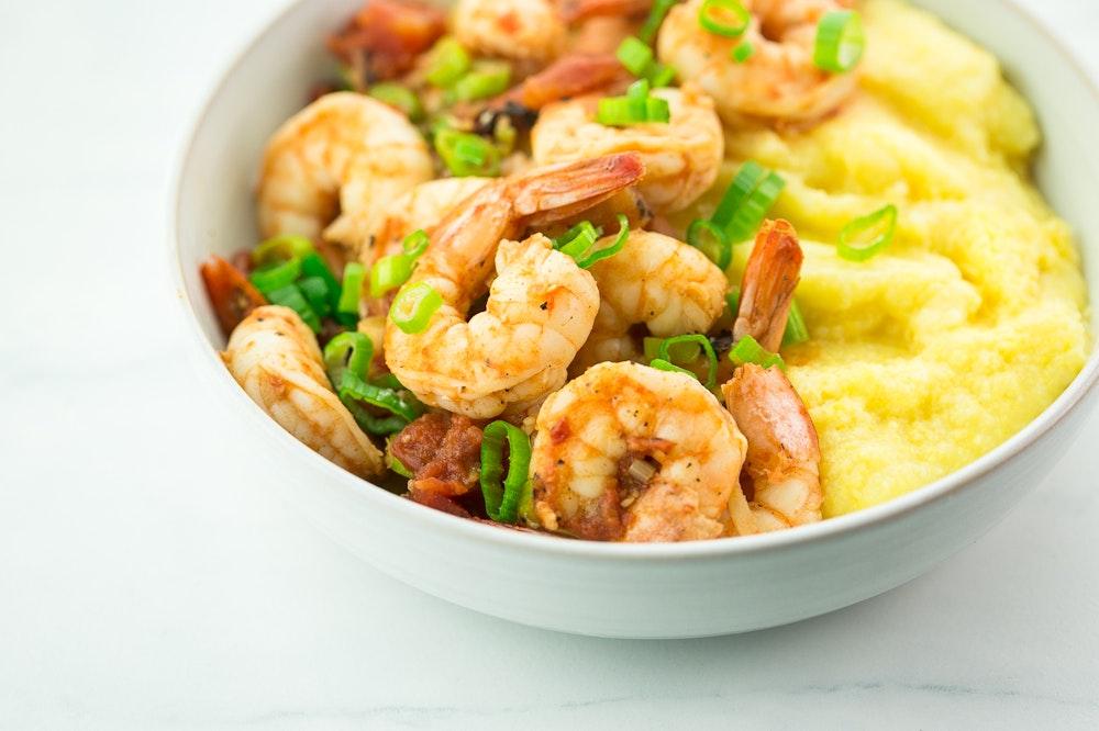 Shrimp and Grits (or Polenta)