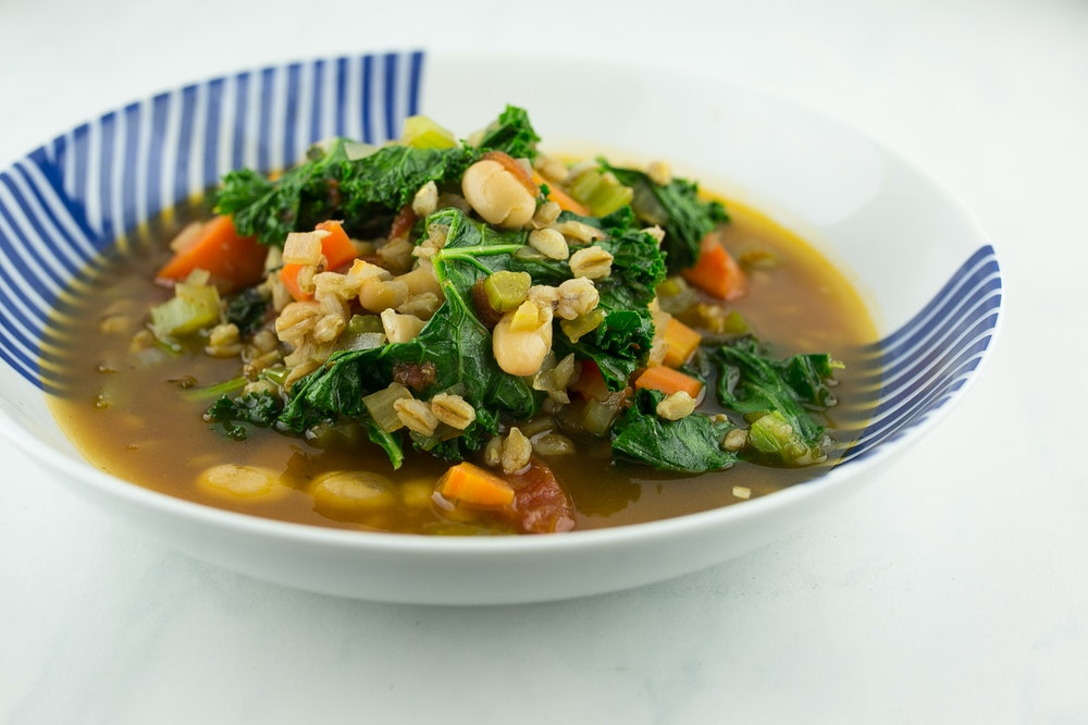 Kale and Farro Soup