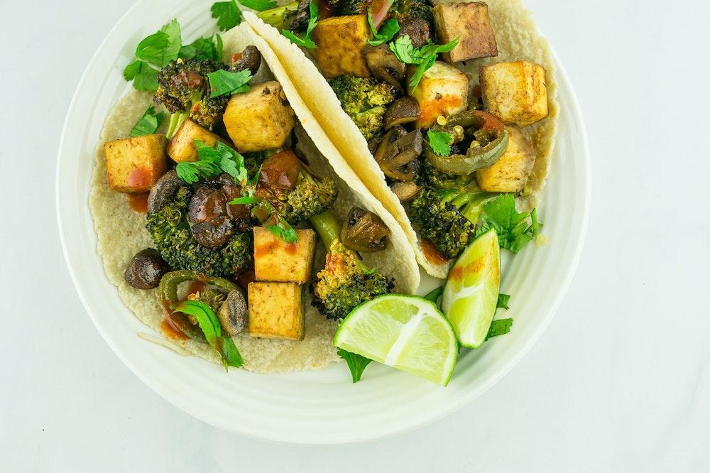 Roasted Broccoli and Tofu Tacos