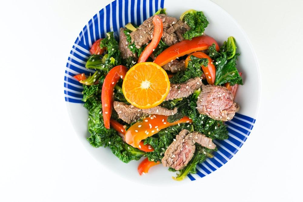 Orange-Sesame Beef Stir-Fry