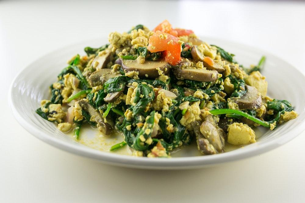 Tofu Mushroom Scramble