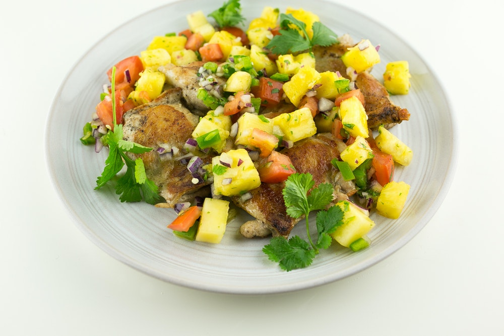 Chicken with Pineapple Salsa