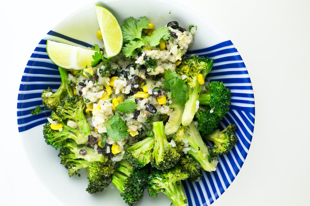 Green Curried Broccoli Fried Rice