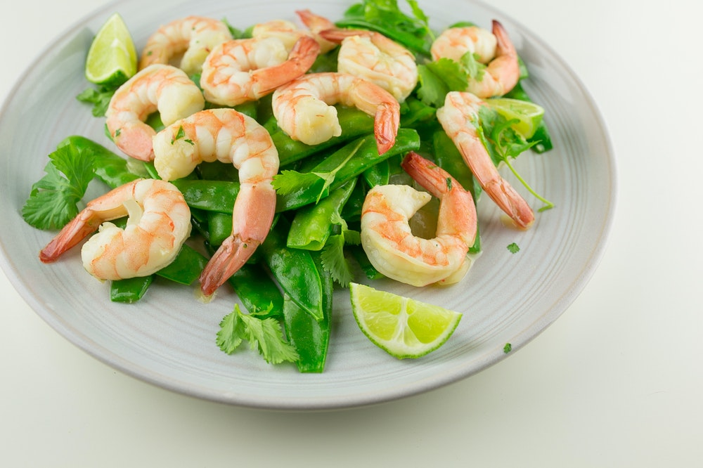 Shrimp and Two-Peas Green Curry Stir-Fry