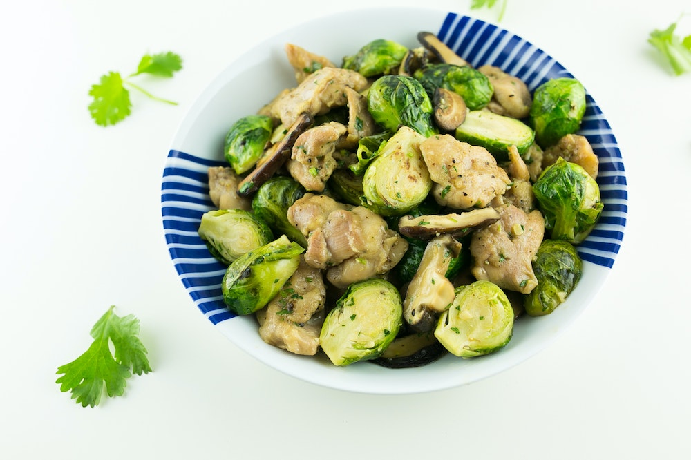 Caramel Chicken Brussels Sprouts Stir-Fry