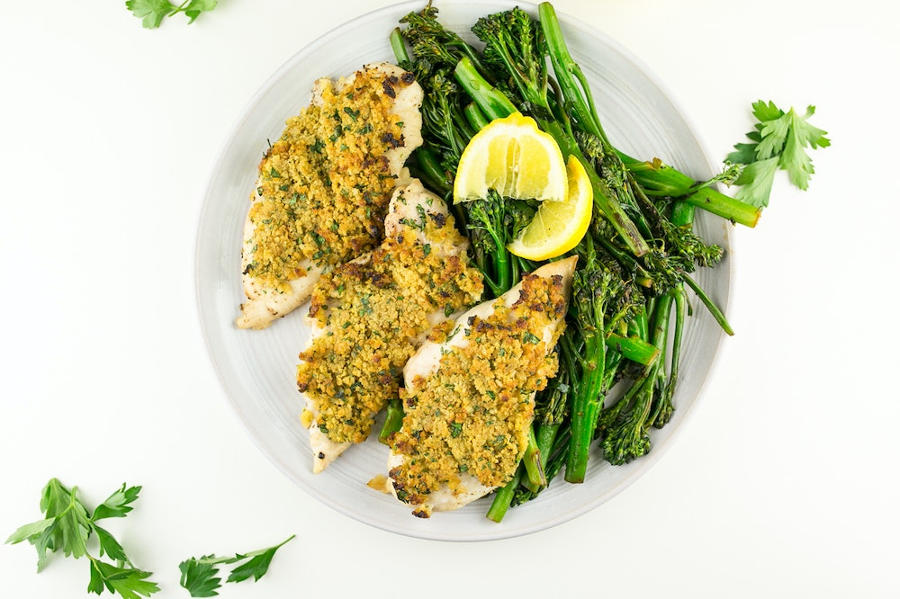 Maple-Dijon Panko Crusted Chicken