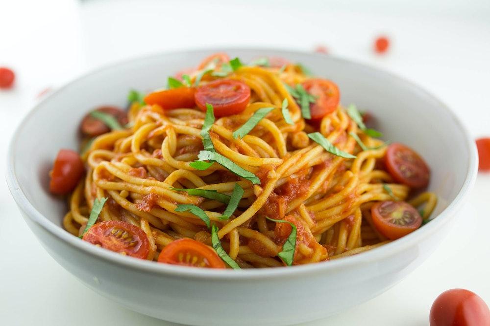 Three-Tomato Spaghetti
