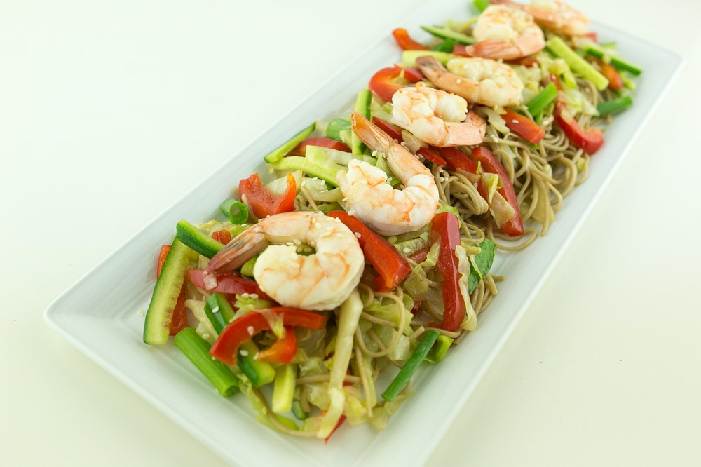 Tri-Color Soba Noodle Salad