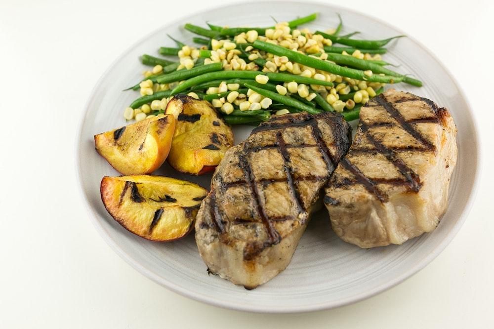 Grilled Balsamic Pork Chops