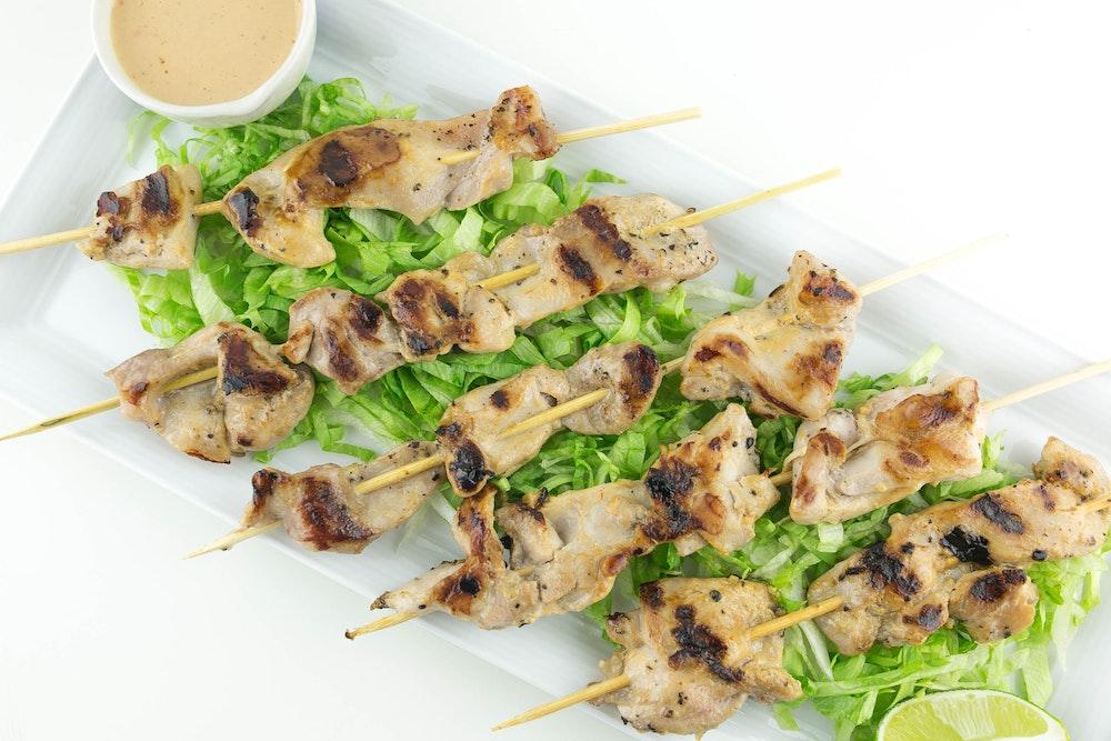 Adobo-Honey Chicken Kebabs