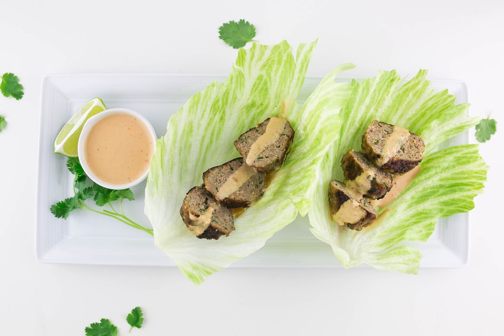 Turkey Meatball Lettuce Cups