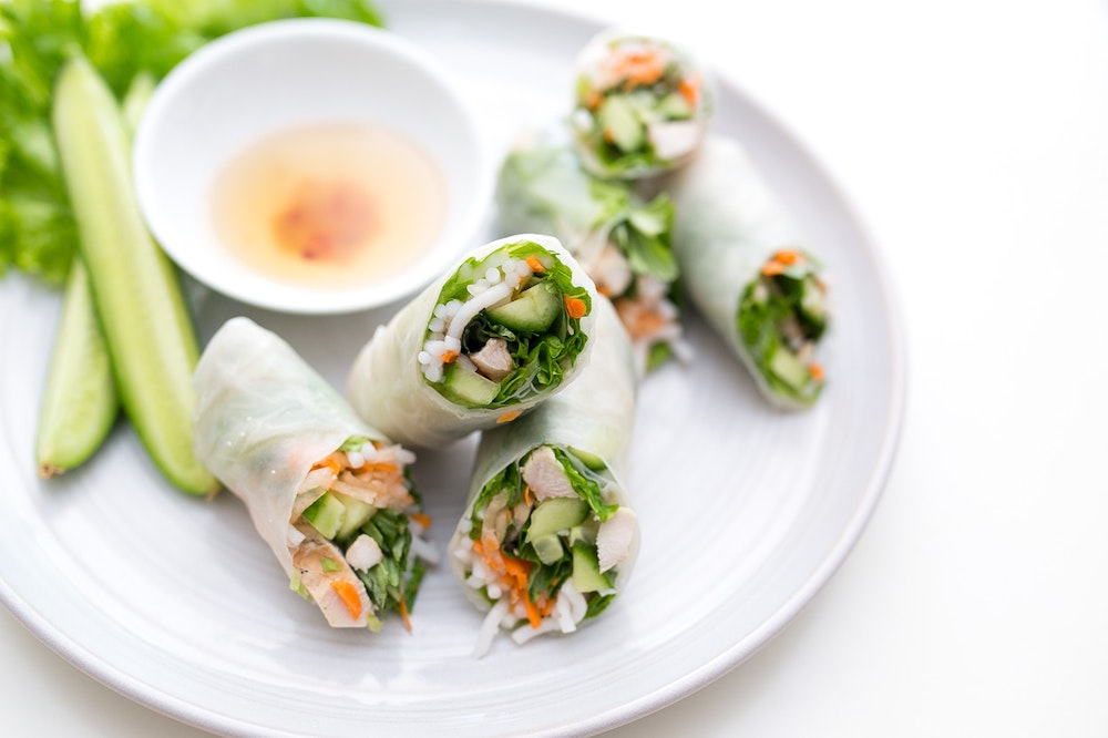 Vietnamese Chicken Summer Rolls