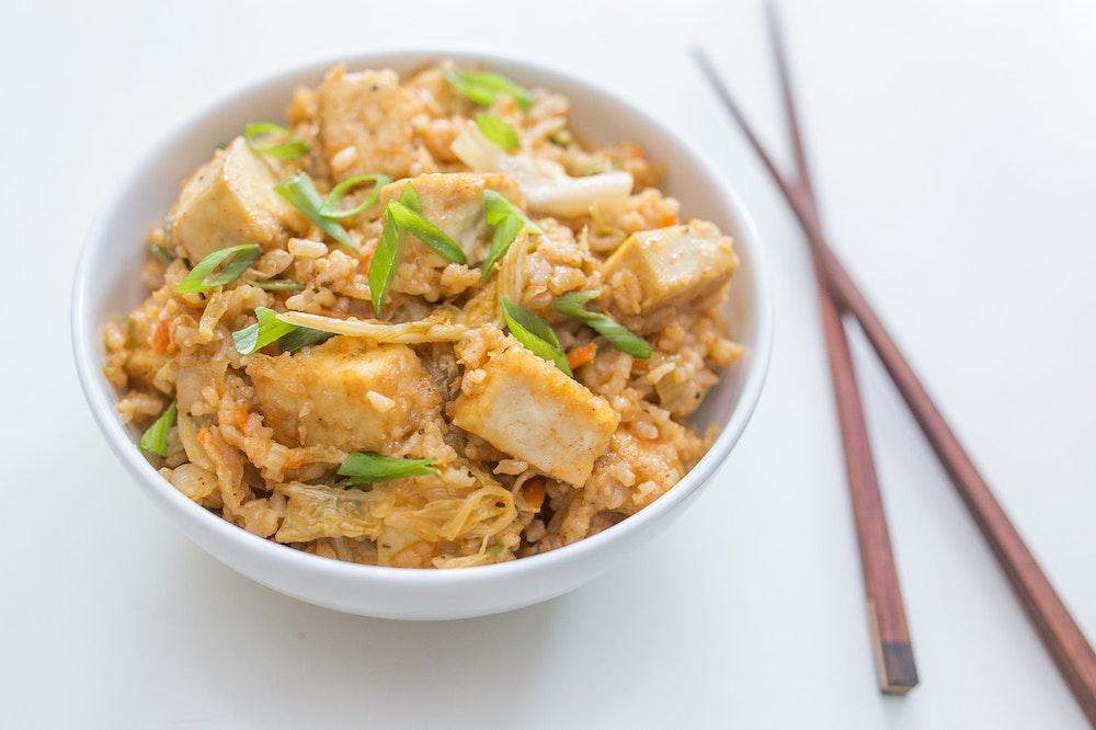 Tofu Kimchi Fried Rice