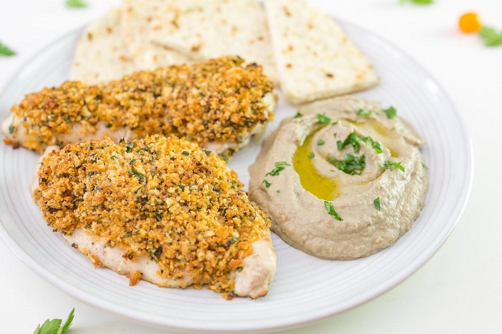Lemon-Oregano Panko-Crusted Chicken