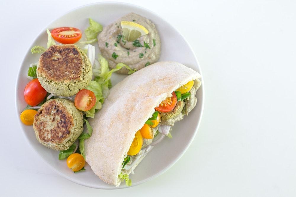 Falafel Pita Sandwiches