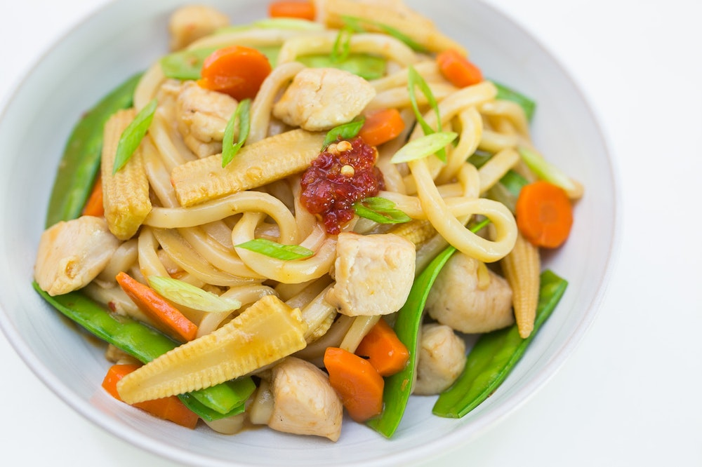 Kung Pao Noodles with Chicken
