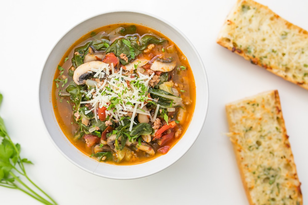 Italian Sausage and Chard White Bean Soup