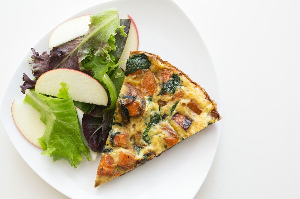 Sweet Potato, Parmesan, and Spinach Frittata
