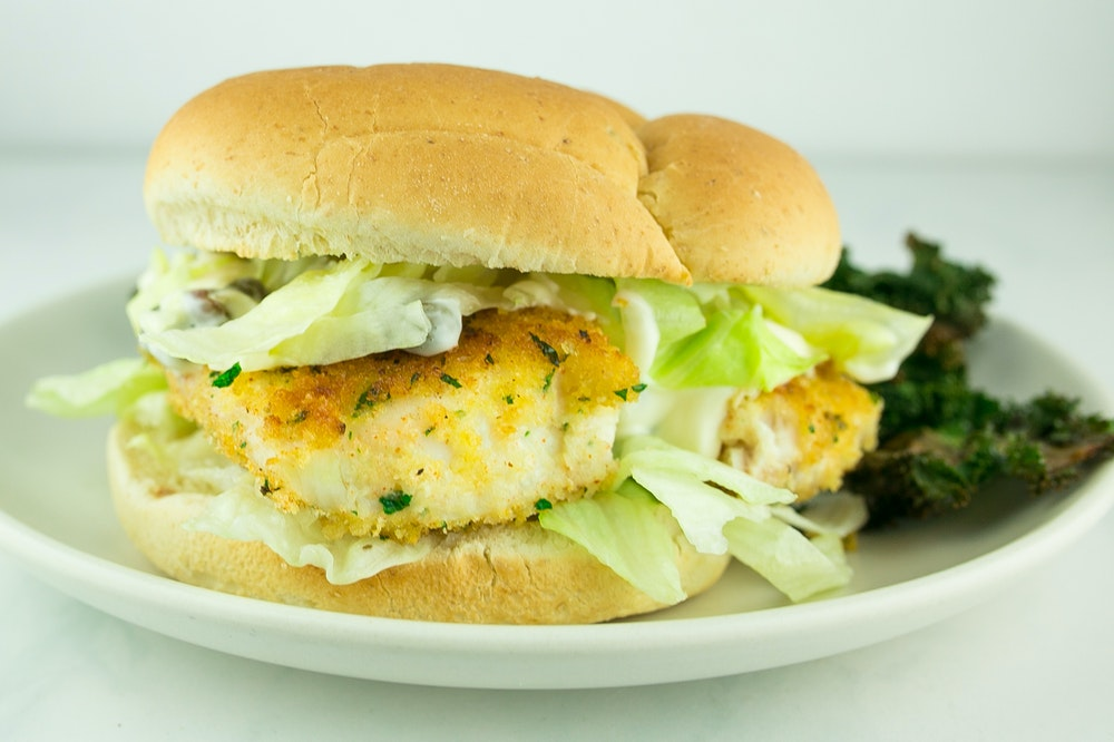 Panko-Crusted Fish Sandwiches