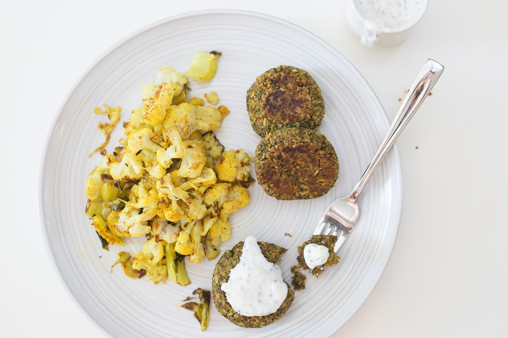 Lentil & Brown Rice Curry Patties (requires food processor)