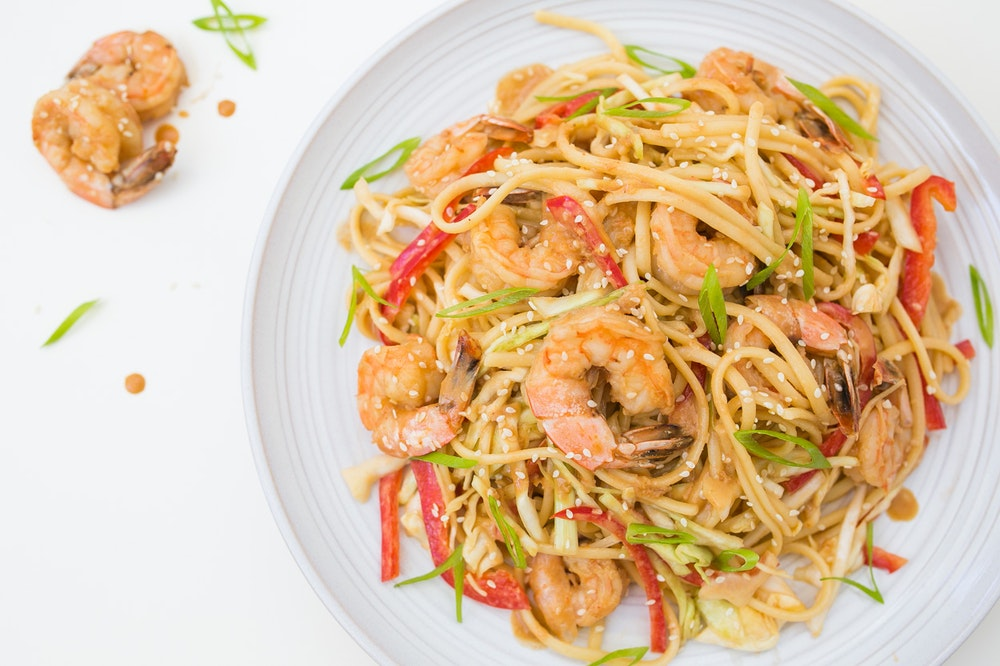 Shrimp Peanut Noodles