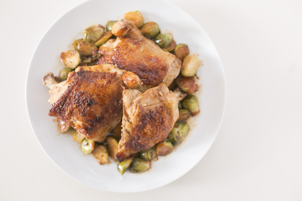 Pan-Roasted Chicken and Brussels Sprouts