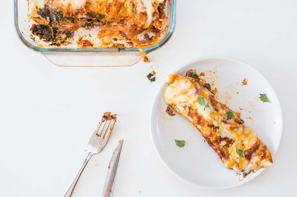 Black Bean and Chard Enchiladas