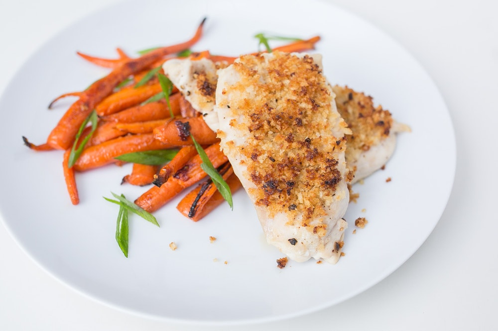 Miso-Maple Panko-Crusted Chicken Breasts