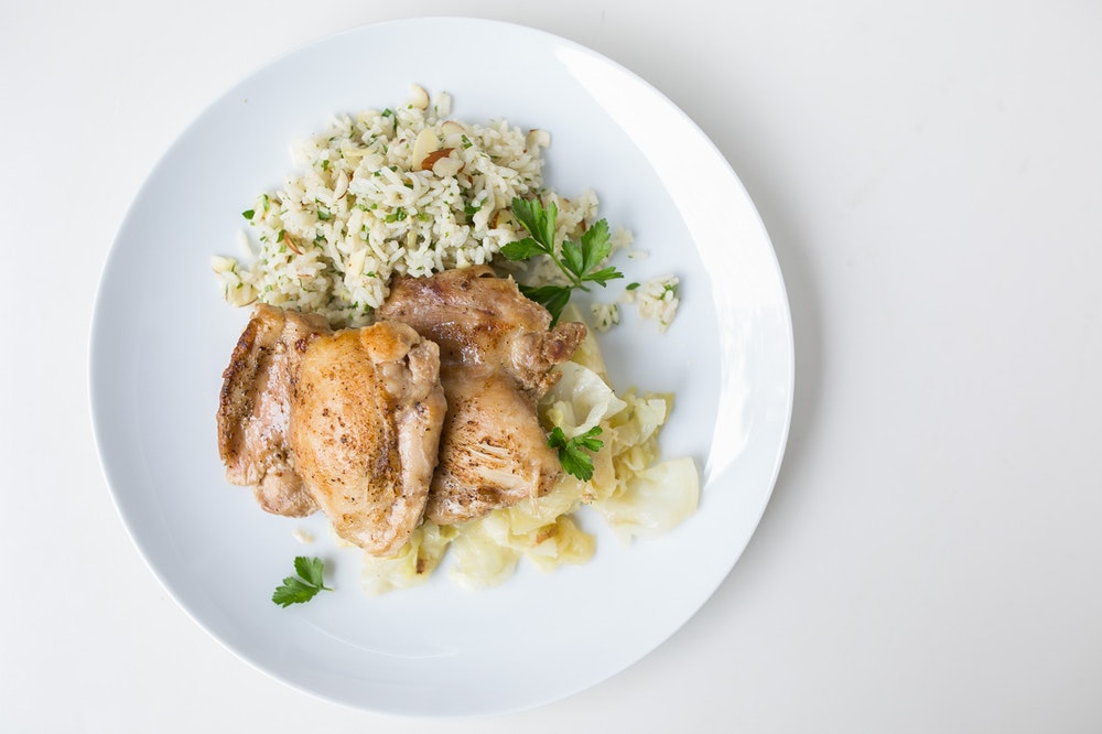 Skillet Chicken Thighs with Cabbage