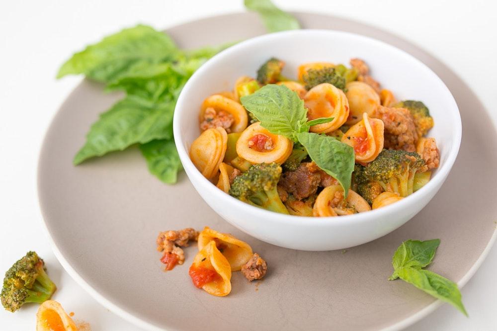 Broccoli and Sausage Orecchiette