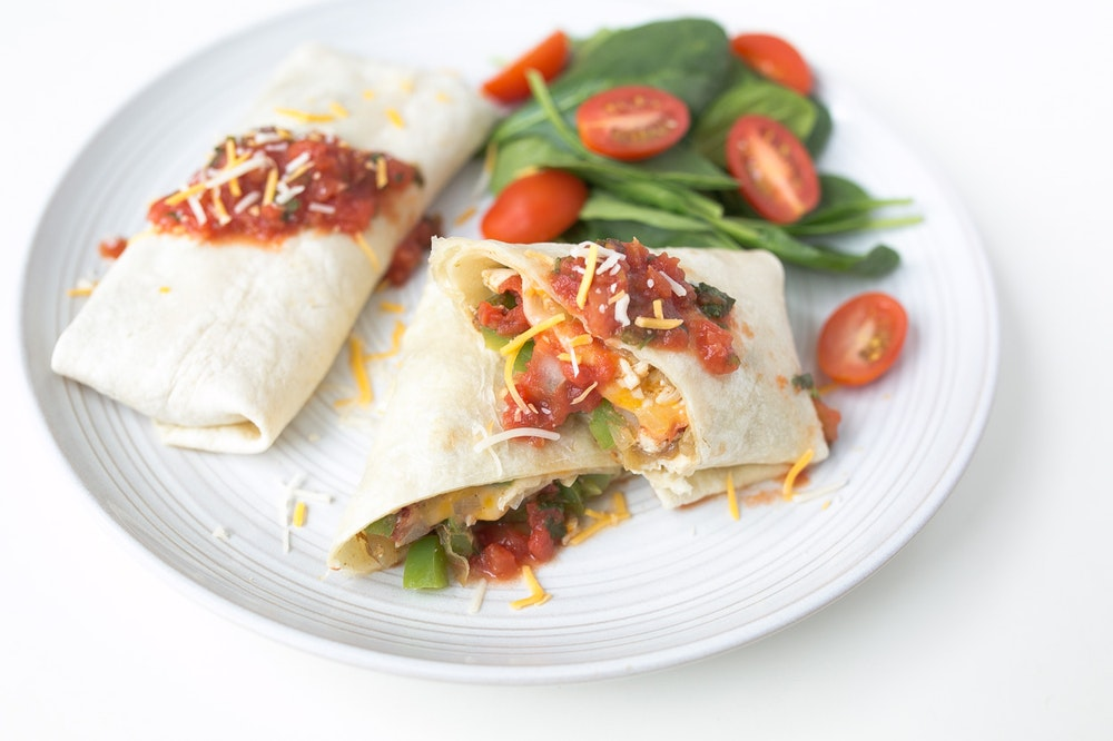 Cheesy Southwest Rotisserie Chicken Tortilla Wraps
