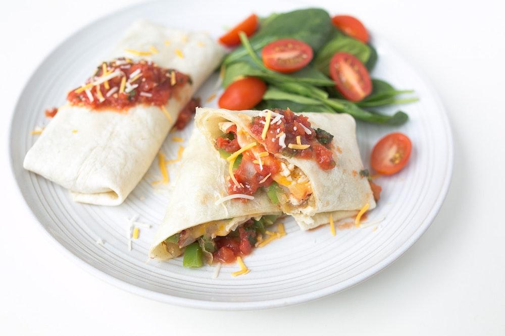 Cheesy Southwest Rotisserie Chicken Tortilla Wraps