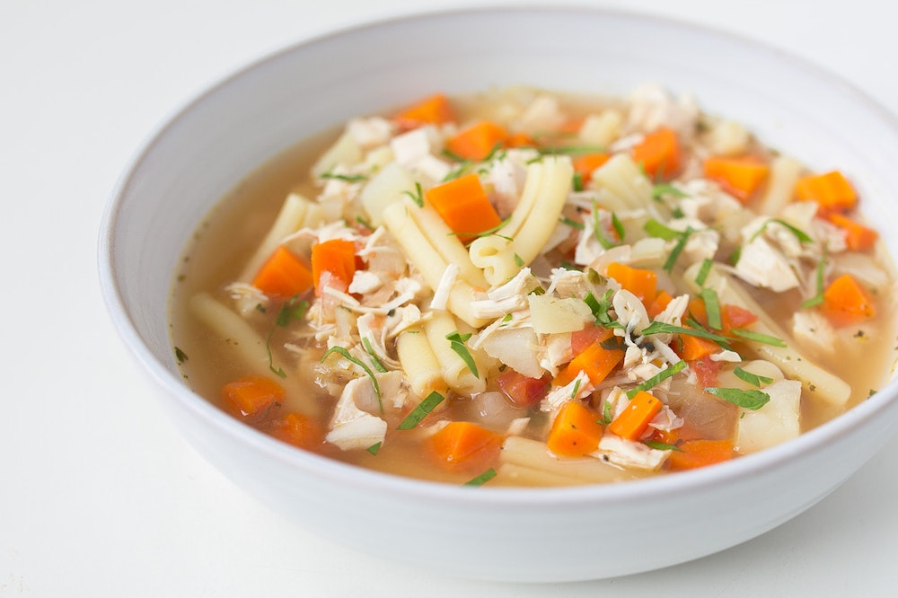 Slow Cooker (or not) Rotisserie Chicken Soup