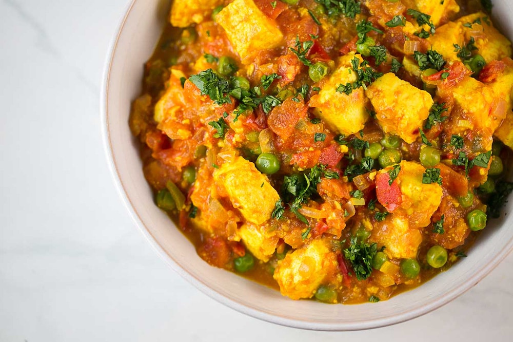 Paneer Tomato and Spinach Curry