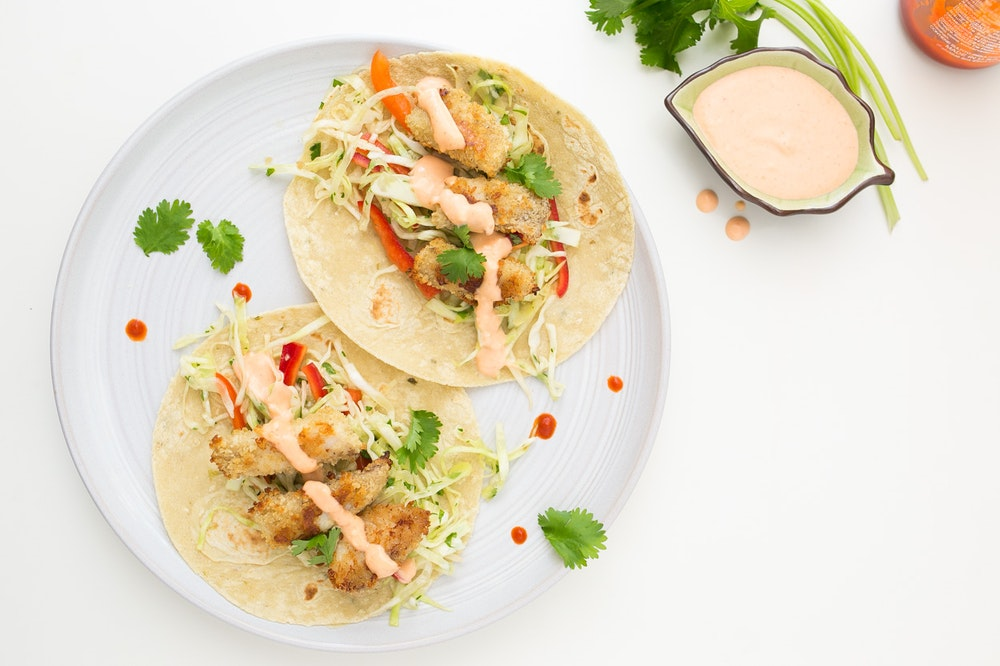 Asian-Spiced Fish Tacos