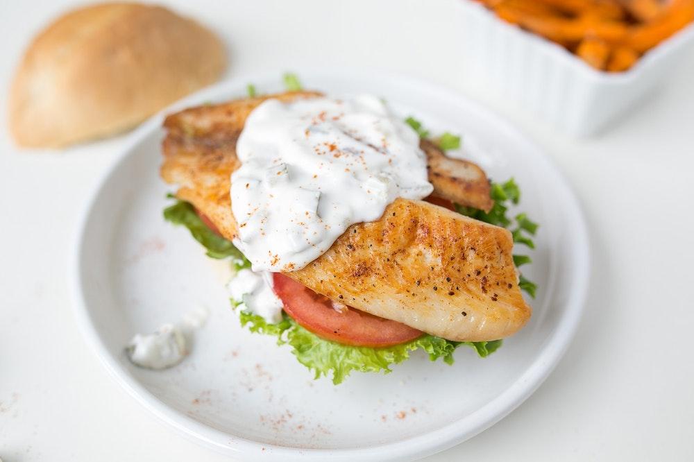 Cajun Blackened Fish Sandwich