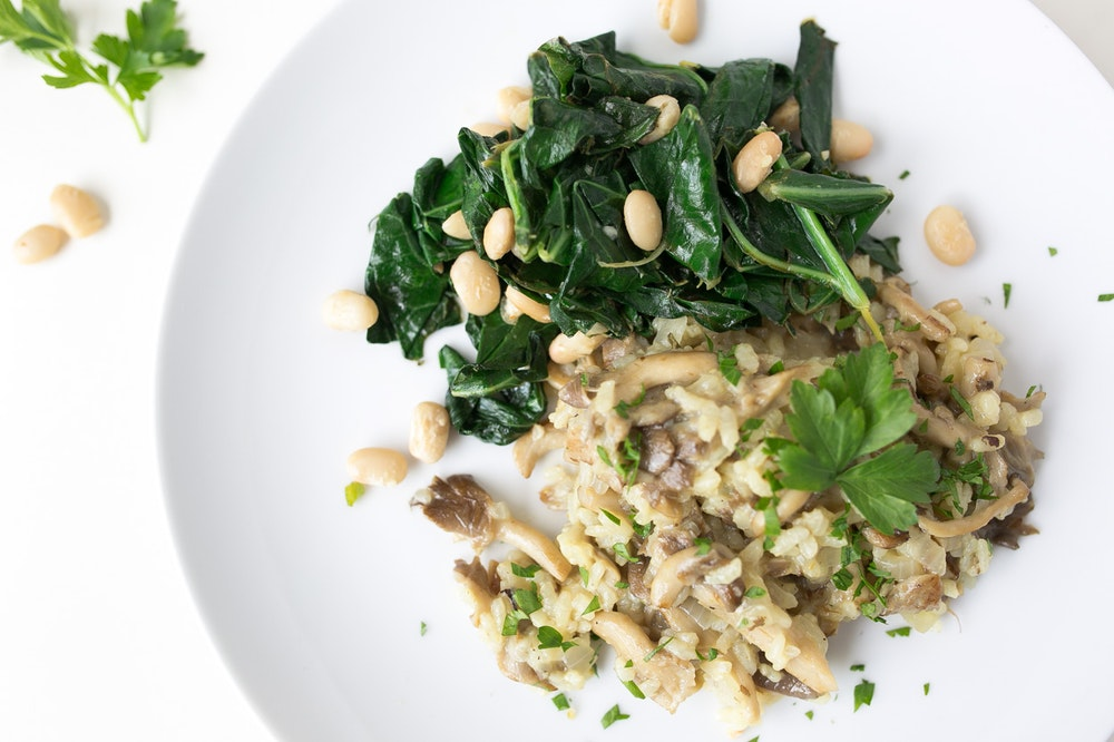 Oven-Baked Risotto with Roasted Mushrooms
