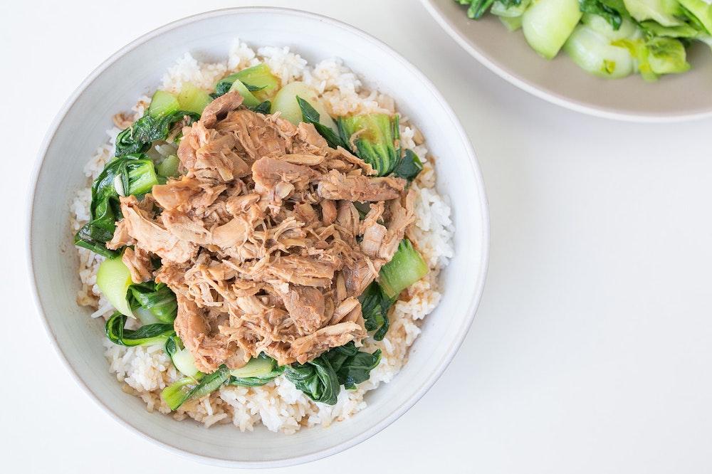 Tofu, Shiitake and Bok Choy Stir-Fry