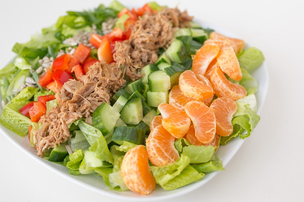 Chopped Leftover Adobo Chicken Salad