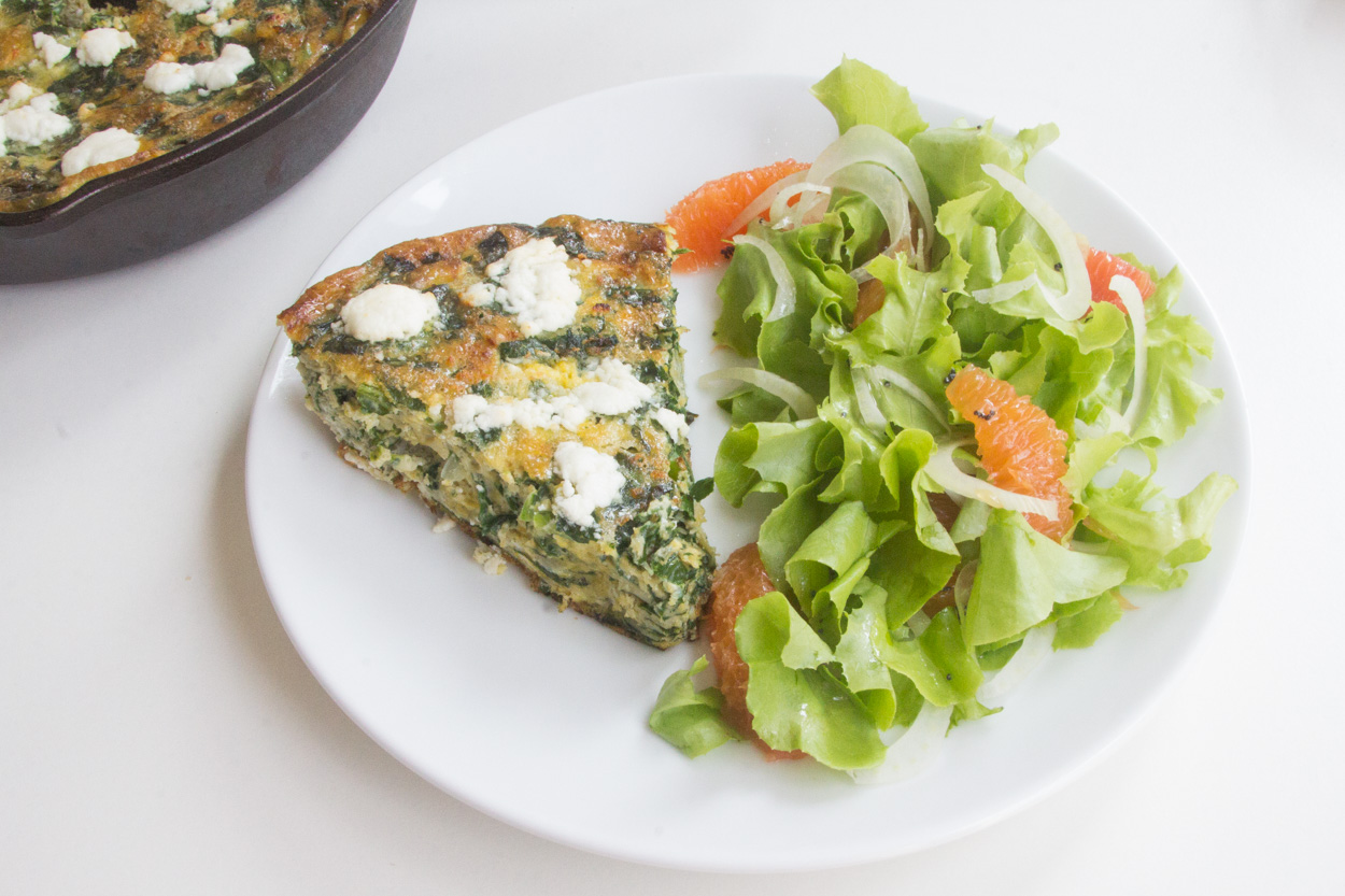 Swiss Chard and Goat Cheese Frittata | Cook Smarts