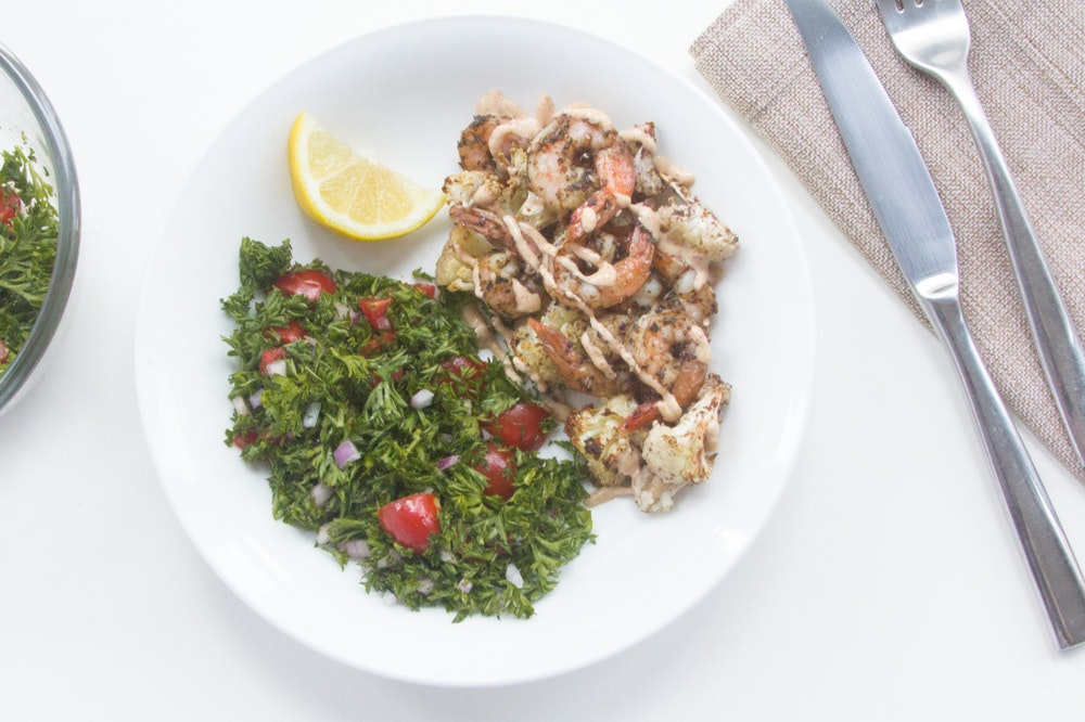 Za'atar Shrimp and Cauliflower