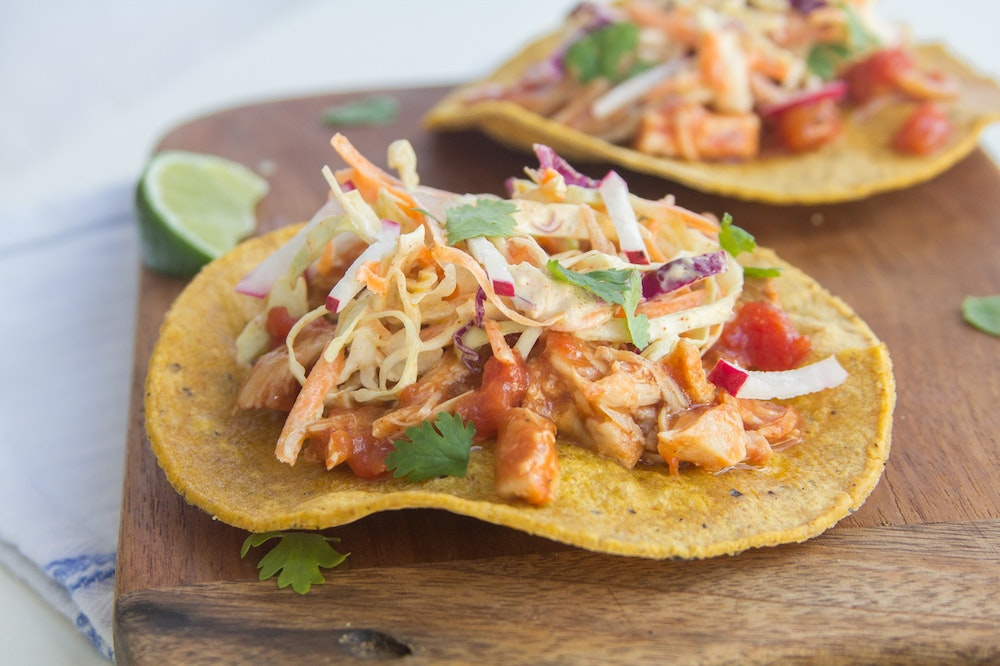 Tostadas with Chipotle Chicken