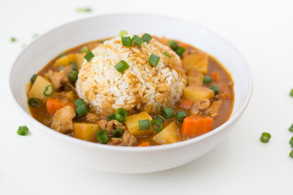 Japanese Chicken Curry Over Rice