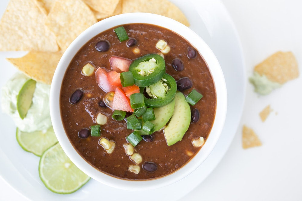 Spicy (or not) Black Bean Soup