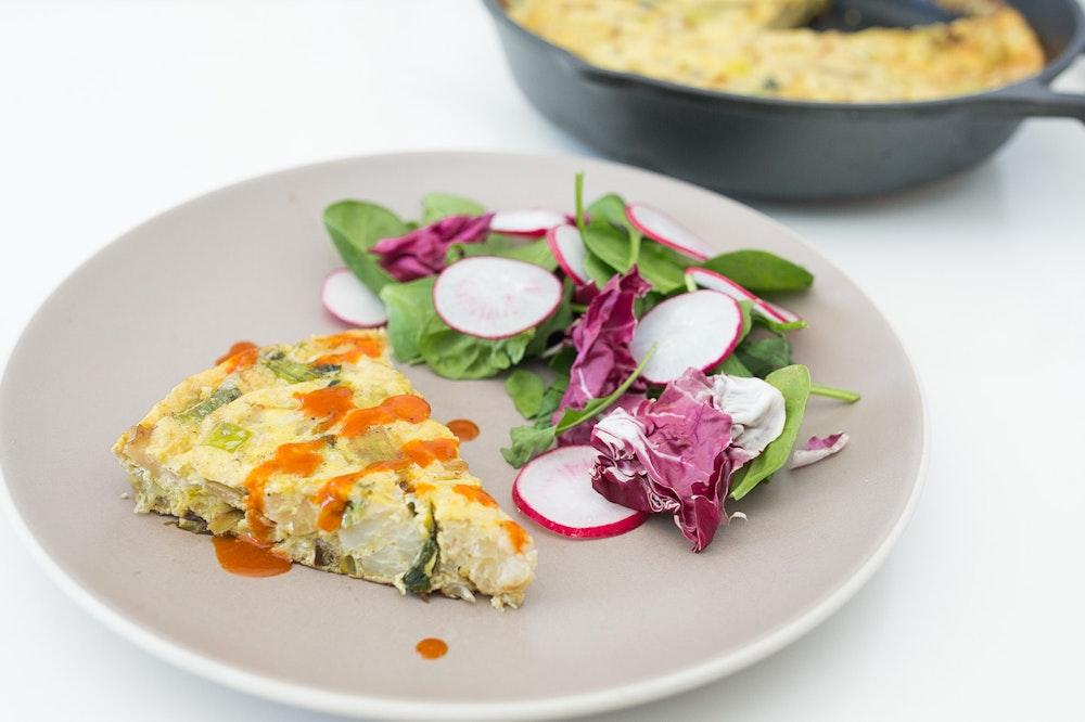 Parmesan Leek and Cauliflower Frittata