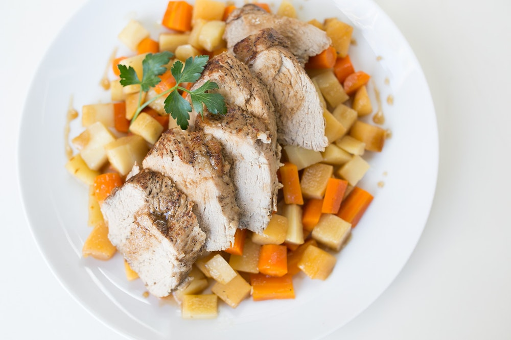 Maple-Balsamic Pork Tenderloin