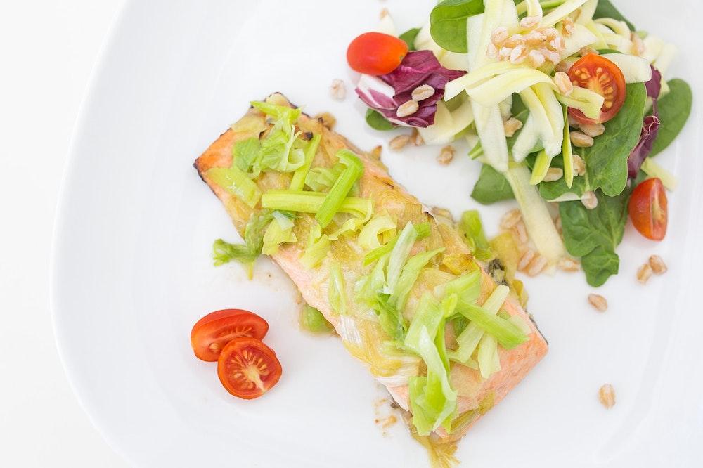 Green Garlic Salmon