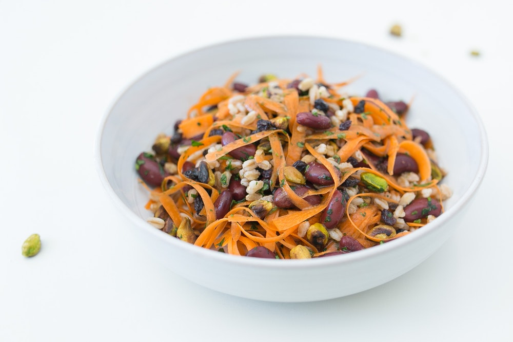 Cumin-Coriander Carrot and Farro Salad